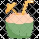 Coconut Drinks Beverage Icon