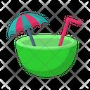 Coconut Vacation Holiday Icon