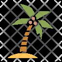 Coconut Tree Beach Icon