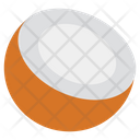 Cutted Coconut Food Fruit Icon