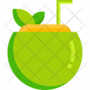 Coconut Drinking Party Icon
