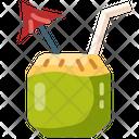 Coconut Coconut Drink Cocktail Icon
