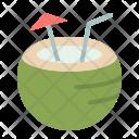 Coconut Water Vacation Icon