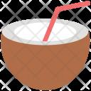 Coconut Drink Straw Icon