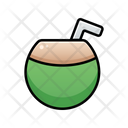Coconut Drink Summer Sunny Day Icon