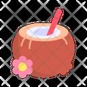 Coconut Drink Food Icon