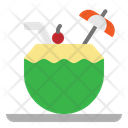 Coconut Drink Tropical Icon