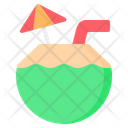 Coconut Drink Cocktail Icon
