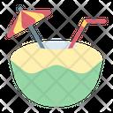 Coconut Drink Summer Icon