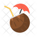 Coconut Drink Starw Icon