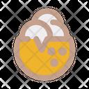 Coconut Ice Cream Icon