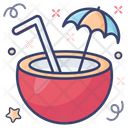 Coconut Juice Tropical Juice Fresh Juice Icon