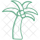 Coconut Fruit Tree Icon