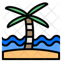 Palm Vacation Travel Icon