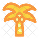 Coconut Summer Vacation Icon
