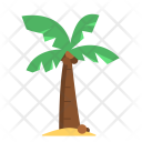 Coconut Tree Vacation Icon