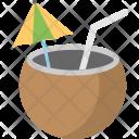 Tropical Drink Coconut Icon