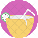Coconut Water Tropical Icon