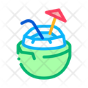 Coconut Tropical Cocktail Icon