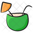 Coconut Water Food Fruit Icon