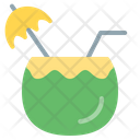 Coconut Coconut Water Summer Holidays Icon