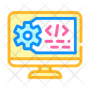 Working Code Computer Icon