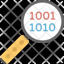 Digital Data Search Icon