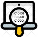 Binary Code Focus Icon
