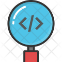Code Magnifier Icon