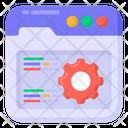 Web Setting Code Optimization Web Design Icon