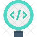 Code Review Magnifier Icon