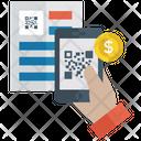 Code Scanning Bill Invoice Qr Code Scanner Icon