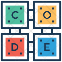 Code Cubes Encode Icon