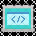 Web Code Screen Icon