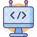 Coding Programming Custom Code Icon