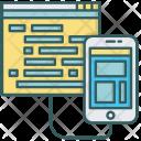 Coding Mobile Development Icon