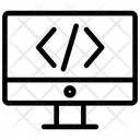 Coding Programming Screen Icon