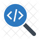 Coding Search Programming Icon