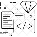 Coding Html Diamond Icon