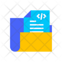 Coding Folder Paper Data Icon