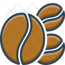 Coffee Bean Food Icon