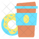 Icoffee Breverages Coffee Donut Icon