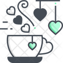 Coffee Date Valentine Date Coffee Icon
