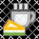 Coffee Pie Tea Icon