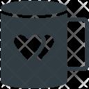 Coffee Heart Symbol Icon