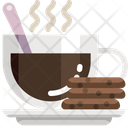 Coffee And Cookie Coffee Meal Icon