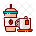 Coffee And Tea Take Away Cup Drink Icon
