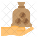 Coffee Beans Hand Coffee Icon