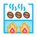 Coffee Beans Fry Icon