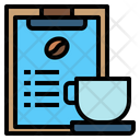 Clipboard Coffee Cup Menu Icon